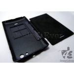 Black HARD Battery FLIP CASE Folio Diary COVER POUCH FOR SONY XPERIA MIRO ST23i
